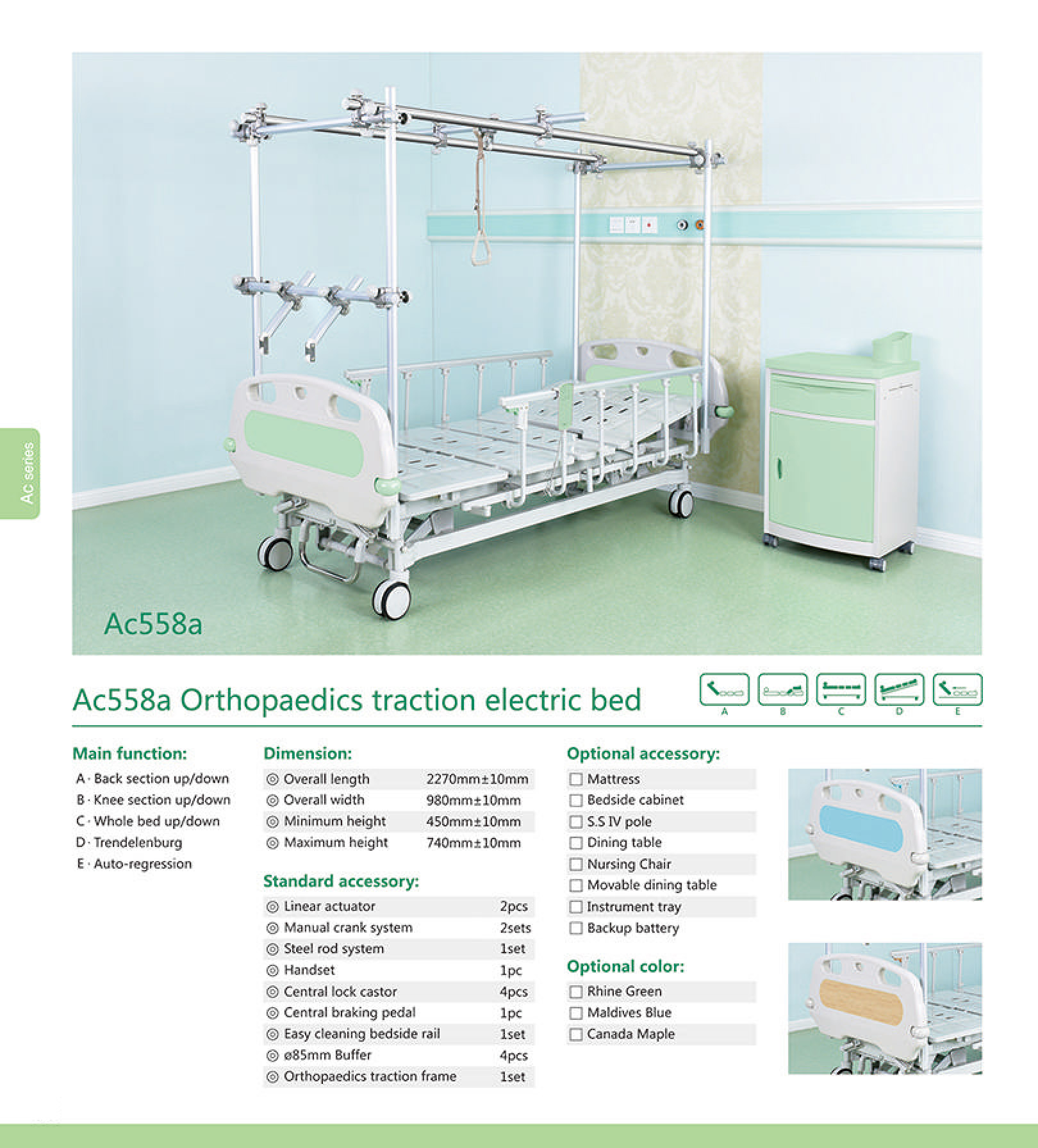 Ac558a Orthopaedics traction electric bed