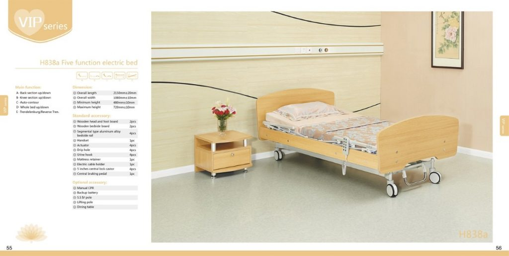 H838a Five function electric bed