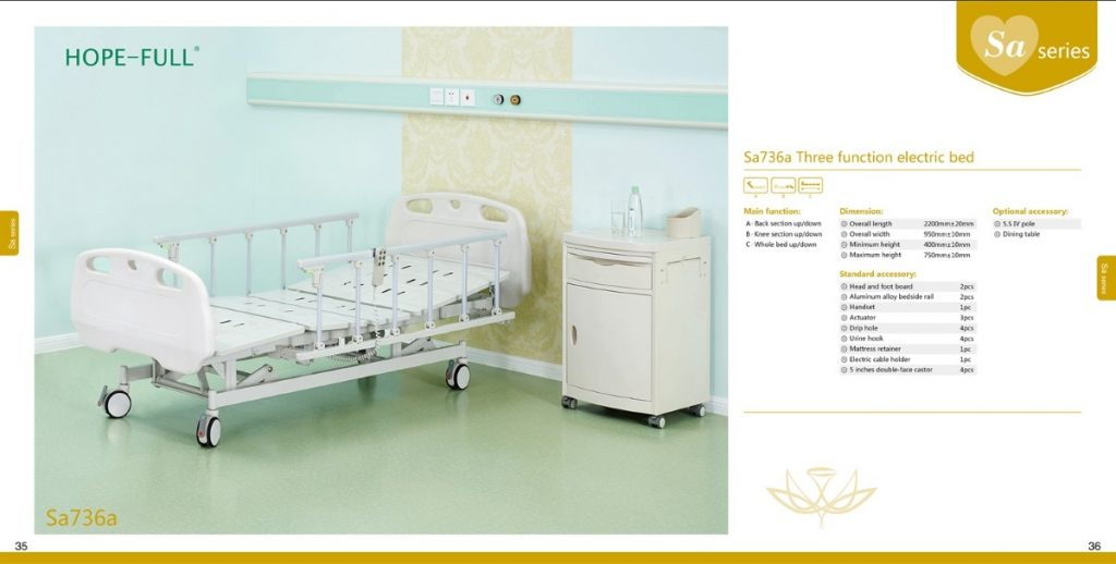 Sa736a Three-function electric bed (For export market only)